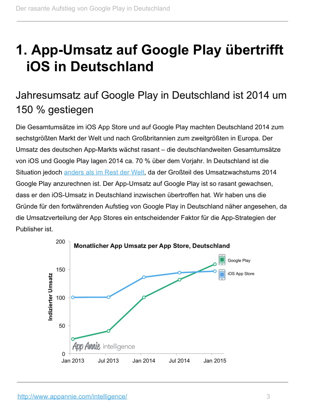 Umsatz auf Google Play übertrifft iOS in Deutschland