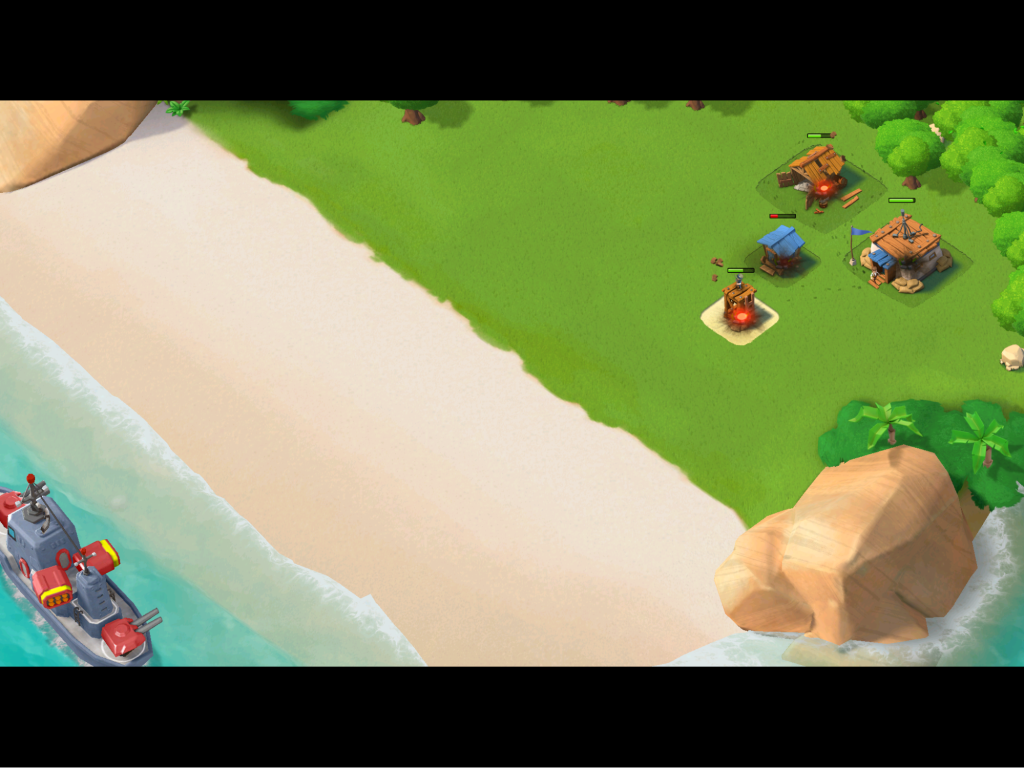 Boom Beach gets players into the action qucikly