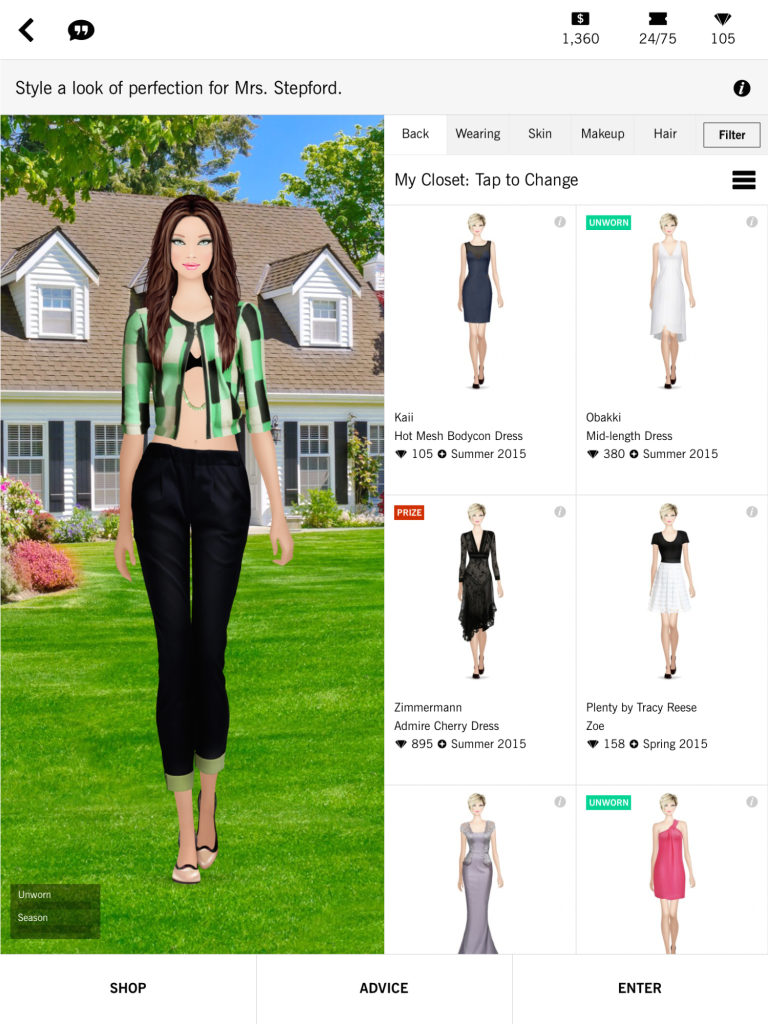 Covet Fashion has users wait hours or days fro the final results