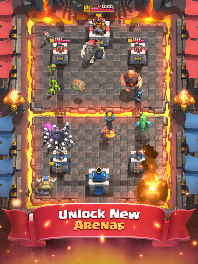 Clash Royale brings mid core MOBA action