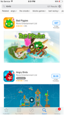 Bad Piggies Rovio App Store