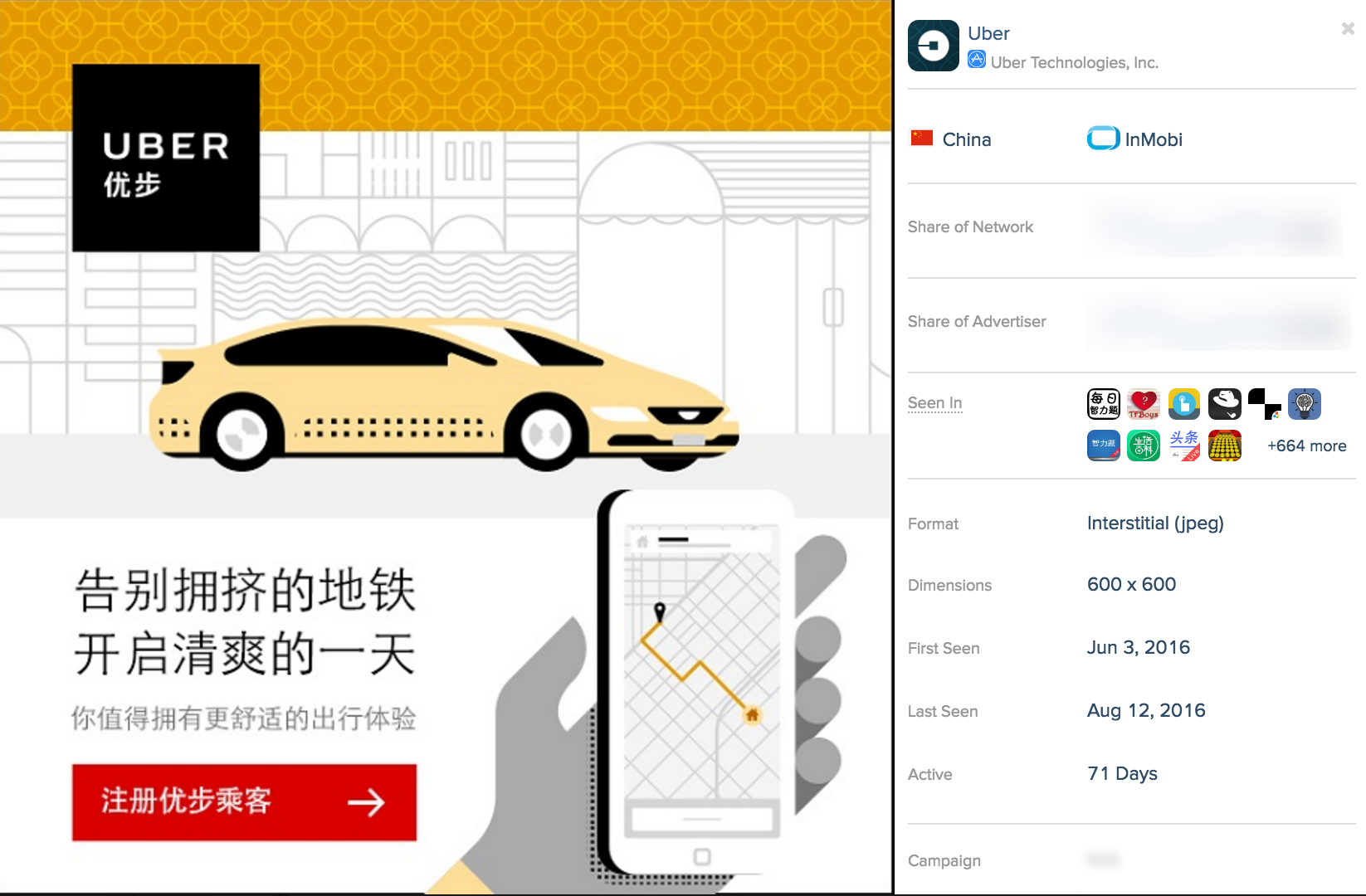 Uber China Advertisements