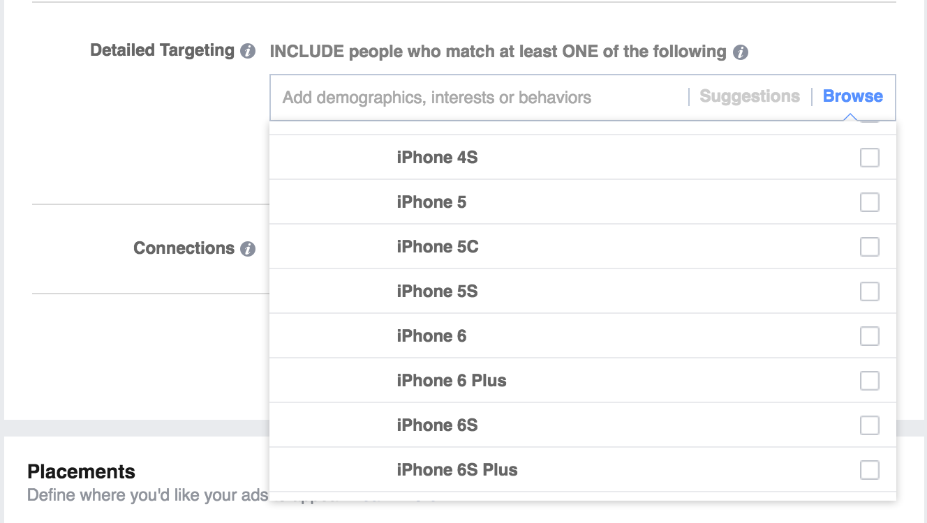 Facebook Target Ads Specific Devices Apple