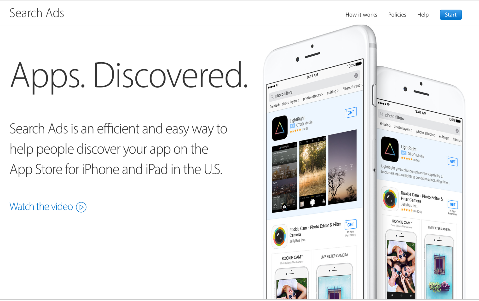 Apple Search Ads Splash